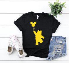 Disney world shirts - Winnie the Pooh Mickey Balloon, Disney World Shirt, Disneyland Shirt, Winnie the pooh shirt, Pooh Be Disneyland Shirts, Disney World Shirts, Disney Shirts For Family, Disney Family, Family Shirts, Couple Shirts, Disney Diy Shirts, Disney Onesies, Disneyland Vacations