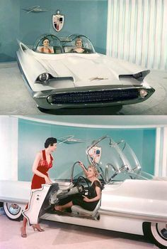 The 1955 Lincoln Futura was a concept car designed by the Lincoln division of…