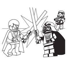 Leuk voor kids kleurplaat ~ Lego Star Wars