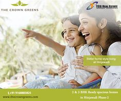 Live the luxurious life inThe Crown Greens located at #Hinjawadi Phase 2 #Pune. We have #Readytomovein flats available.  Call : +91 9168883825