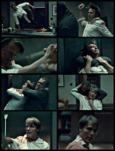 During the fight scene, I couldn't stop staring at #Hannibal's hair...!