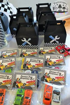 """Items similar to Mickey and the Roadster Racers Birthday """"Thanks for Stopping By"""" Personalized Thank You Tags with Bag on Etsy Hot Wheels Birthday, Hot Wheels Party, Race Car Birthday, Race Car Party, Mickey Birthday, Cars Birthday Parties, Mickey Party, 4th Birthday, Car Themed Birthday Party"""