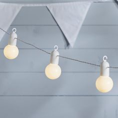 20 Warm White LED White Cable Party Festoon Lights