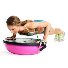 Bosu Push-Up -- being on the bosu gives your core an extra workout! Fitness Goals, Fitness Tips, Fitness Motivation, Health Fitness, Fitness Challenges, Body Fitness, Fitness Quotes, Bosu Workout, Workout Fitness