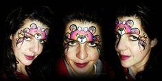 rainbow teddy face painting