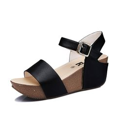 Ladies wedge sandals/Thick-soled platform Joker sandals/Fashion spill high heels >>> Click on the image for additional details.