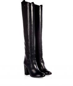 Overknees aus Leder #Stiefel #Modenova