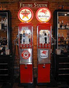 Double gas pump (used as a beer dispenser)   www.garageart.com