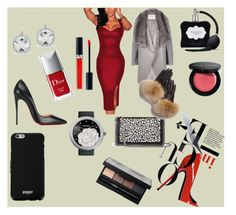 """""""Lady in red"""" by borjascindy on Polyvore featuring Christian Louboutin, STELLA McCARTNEY, Christian Dior, NARS Cosmetics, Bobbi Brown Cosmetics, Victoria's Secret, Givenchy, Chanel, Anne Sisteron and River Island"""