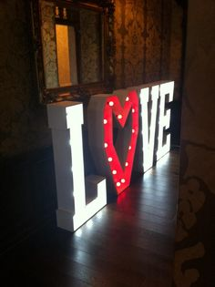 Illuminated Light Up Letters Mr Mrs Set Up At Mitton Hall