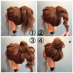 Frisur perfect messy bun
