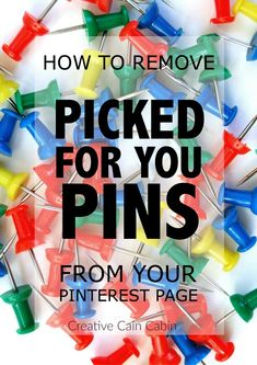 How To Remove Picked For You Pins From Your Pinterest Page