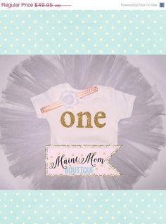 WHITE Pink and Gold Glitter Girls First Birthday Outfit with blush pink gold dots Headband Tutu Bodysuit with one by MaineMomBoutique on Etsy https://www.etsy.com/listing/218610769/white-pink-and-gold-glitter-girls-first