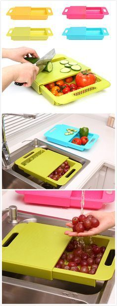 Multifunction Antibacterial PP Chopping Board#gadgets #Home garden# I need one asap (Kitchen Gadgets Clever)