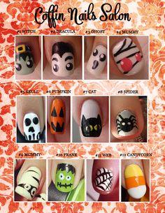 Halloween Nail Design printable