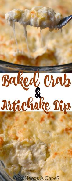 Everyone loves when I make Baked Crab & Artichoke Dip! So simple, loaded with cheese, crab, and chunks of artichoke! Great for holiday parties, just delish!