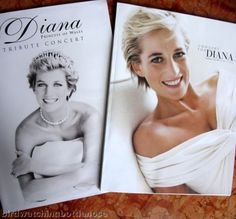 2 LADY DIANA PROGRAMMES : Althorp Park Tribute 1998 & Concert For Diana 2007