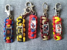 Superhero Paracord Key Fob
