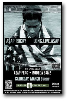 Asap Rocky Poster, Concert Posters, Movie Posters, Clifton Park, North Country, Smoke Shops, Concert Hall, Long Live, Special Guest