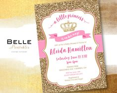 Baby Shower Invitation   A Little Princess by BellePrintables