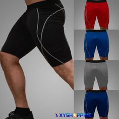 Mens Boys Compression Tights Shorts Base Layer Gym Pants Sports Running Gym…