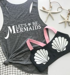 Halloween inspired Mermaid outfit. Super cute for a Disney marathon or Ariel look! Perfect for a mermaid workout outfit! Seashell sports bra
