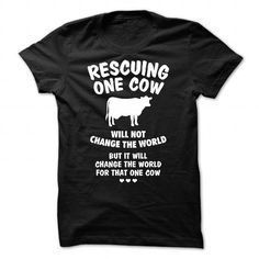 Rescuing one Cow T-Shirts, Hoodies, Sweatshirts, Tee Shirts (24$ ==► Shopping Now!)