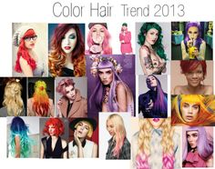 """""""Color Hair Trend 2013"""" by valeriajmarchetti on Polyvore"""