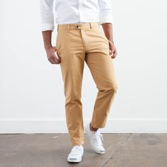 Tailored butterscotch trousers for men