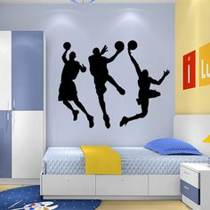 Top 5 Colors 80*135cm Fashion Sports Wall Sticker Basketball Sticker Wallpaper Basketball Large NBA 2K Decal Wall Sticker