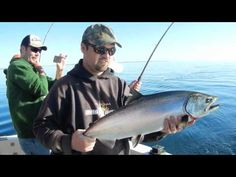 Mothers Day Weekend with Kinn's Sport Fishing.  Red Hot King Salmon Action from Algoma, WI.