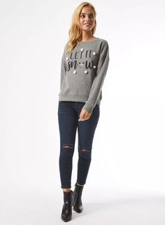 Carousel Image 0 Knitwear, Jumper, Creations, Skinny Jeans, Let It Be, Pullover, Carousel, Grey, Sweaters