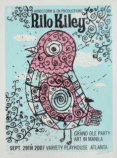 Rilo Kiley Atlanta concert poster