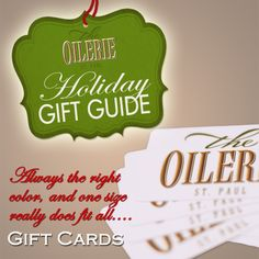 With over 30 flavors of authentic 100% Italian extra virgin olive oils and Balsamic Vinegars it can be hard to choose. An Oilerie-St. Paul gift card is always the perfect option and allows them to visit our store to sample and select their favorite flavors or varieties.