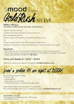 Our New Years Eve Menu And Package Room KitchenNew EveLiving RoomMusicMenu