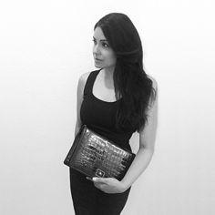 Our ANISHA #handbag blackandwhite #oldschool #classic #luxeleathers #texture #black #alligator #glaze #finish #style #luxury #fashion #fashionista #musthave #love #laykhlady #armcandy #handbag #clutchbag #purse #photooftheday #crocobag #crocodilebag #designer #designerbag #designerhandbag #luxuryfashion #luxurybag #luxurybags #luxuryhandbag #luxurystyle #instabag #bagaddict #baglover #laykh