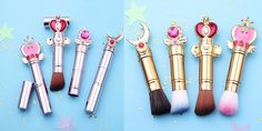 Buy Sailor Moon Rod Powder Brushes at Bijou Blossoms for only $90.00 USD  #makeup #holidays #fashion #glam #glamour #style #styleblogger #beautyblogger #beauty #shopping #onlineshopping #sale #love #cute #blackfriday #sailormooncrystal #sailormoon #pink #mirrors #cosmetics
