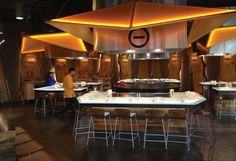 The sushi bar at Lavery Hall is one of eight dining venues at Virginia Tech's ne