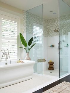 walk in shower and tub