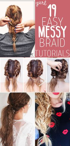 If you're looking for a quick and easy hairstyle that looks like it requires a lot more skill than it does, you can't go wrong with a messy braid. A perfectly tousled braid has a boho vibe to it that makes your look seem effortless, but still extremely cool. I personally prefer a messy braid over a sleeker version – I think braids look best with a little bit of volume, escaped flyaways, and loose strands. A slicked back, every-hair-in-place braid is obviously still awesome (and kudos to…