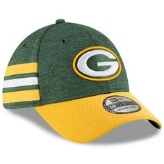 677fc1bef Green Bay Packers New Era 2018 NFL Sideline Home Official 39THIRTY Flex Hat  – Green/Gold