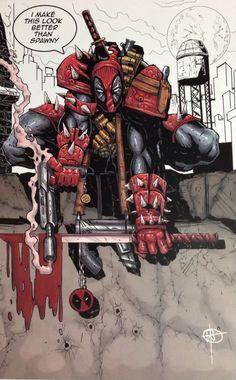#Deadpool #Fan #Art. (DEADPOOL as SPAWN) By: WILL TORRES. (THE * 5 * STÅR * ÅWARD * OF: * AW YEAH, IT'S MAJOR ÅWESOMENESS!!!™)[THANK U 4 PINNING!!!<·><]<©>ÅÅÅ+(OB4E)