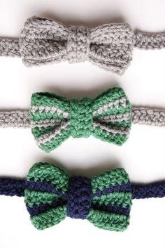 Textured Bow Tie- crochet pattern