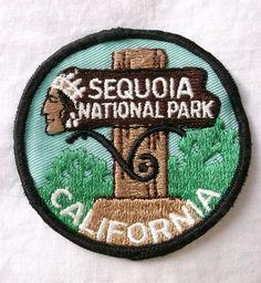 SEQUOIA National Park California PATCH Iron Fabric Badge Travel Souvenir RARE Bag Patches, Travel Patches, Pin And Patches, Sew On Patches, Iron On Patches, National Park Patches, National Parks, Sequoia National Park California, Sew On Badges