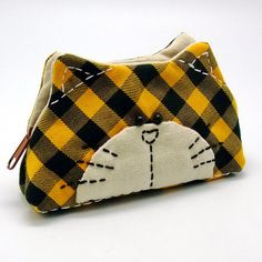 Lovely cat b  Zipper pouch / coin purse padded by EasternLife, $15.90