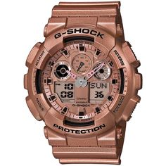 Casio G-Shock Gold Dial Gold Resin Quartz Men's Watch GA100GD-9A >>> See this great product.