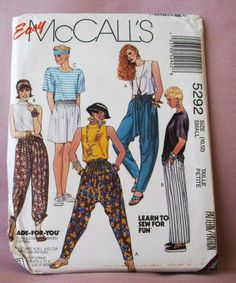1991 Uncut  Easy McCalls Pattern 5292 Misses by lovelylovepatterns, $4.00