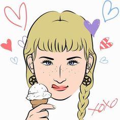 #mineportraitapp #mine #portrait #app #me #face #fashion #girl #cute #freckle #icecream #heart #xoxo #hands #celebrity