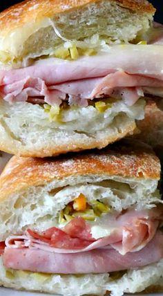 Mini muffuletta sandwiches