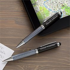 Create a professional executive gift with the Black Stylus Personalized Ball-Point Pen. Find the best personalized office gifts at PersonalizationMall.com